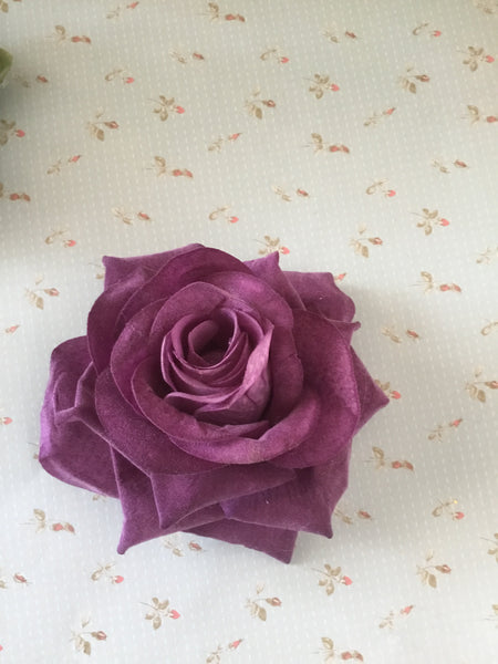 Big vintage inspired single rose hairflower ... various colours