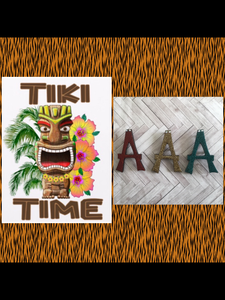 A..TIKI font initial brooch ... exclusive design .. more colours coming soon