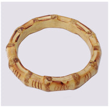 Load image into Gallery viewer, CHUNKY Bamboo bangle - natural