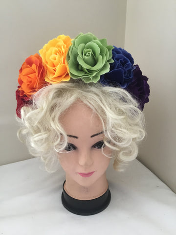 FRIDA... rainbow flower crown / pride