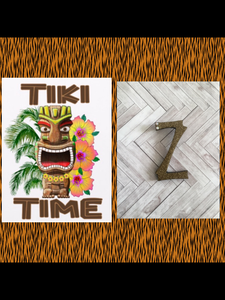 Z ..TIKI font initial brooch ... exclusive design .. more colours coming soon