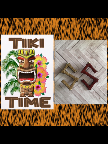 S ..TIKI font initial brooch ... exclusive design .. more colours coming soon