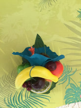 Load image into Gallery viewer, LEILANI - Teal hibiscus  / Fruit cluster hairpiece