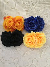 Load image into Gallery viewer, Double soft rose hairflowers - various colours