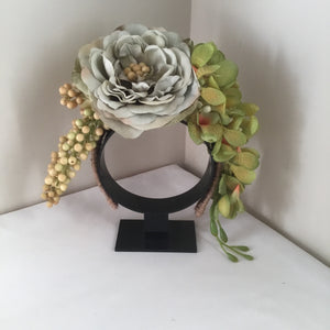 RAYNA ... bespoke floral crown, occasion wear