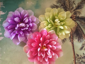 DAHLIA.. single flower clip .. various colours