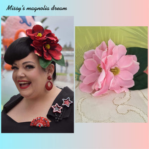 Missy's magnolia dream ... double magnolia cluster hairflower ... PINK