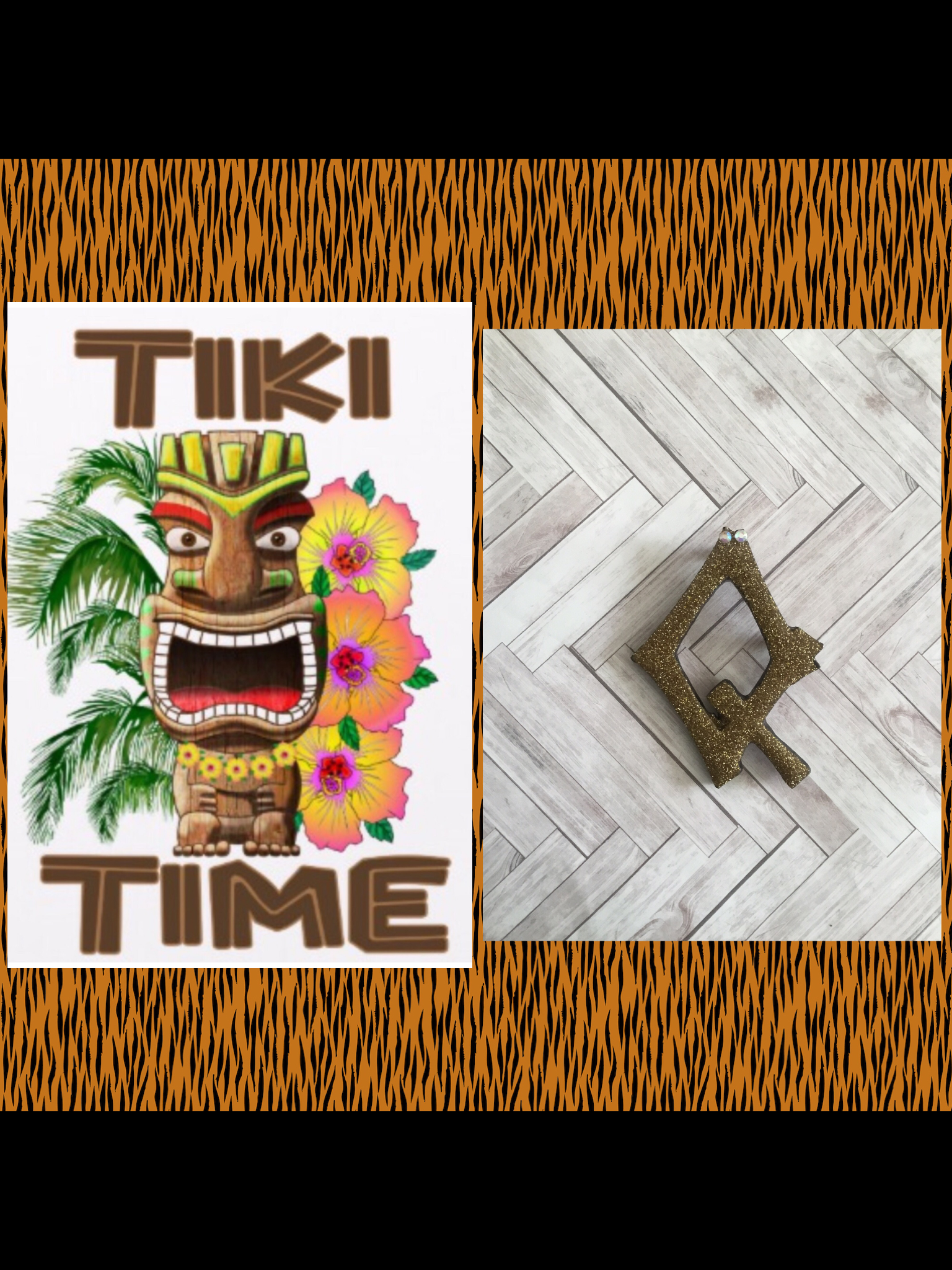 Q ..TIKI font initial brooch ... exclusive design .. more colours coming soon