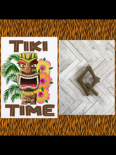 Load image into Gallery viewer, Q - TIKI font initial brooch , exclusive design - various colours