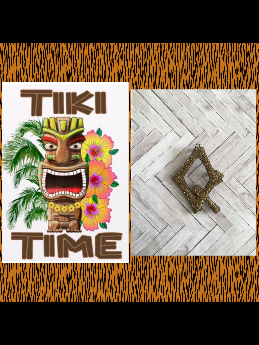 Q - TIKI font initial brooch , exclusive design - various colours