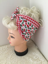 Load image into Gallery viewer, WHITE CHERRY - vintage inspired do-rags
