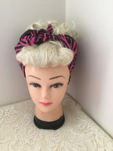 Load image into Gallery viewer, HOT PINK ZEBRA - vintage inspired do-rag