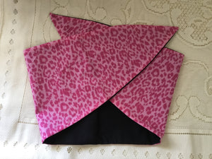 Pink leopard - vintage inspired do-rag