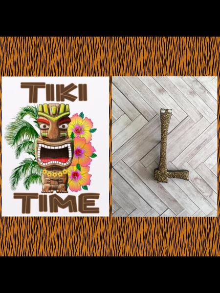 L .. TIKI font initial brooch ... exclusive design . More colours coming soon