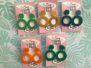 NEW STYLE - DOLLY hoops - pearl affect - various colours SECONDS