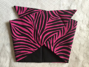 HOT PINK ZEBRA - vintage inspired do-rag