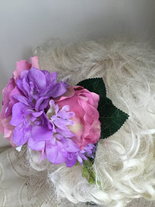 ASHLEY- large cluster hair flower