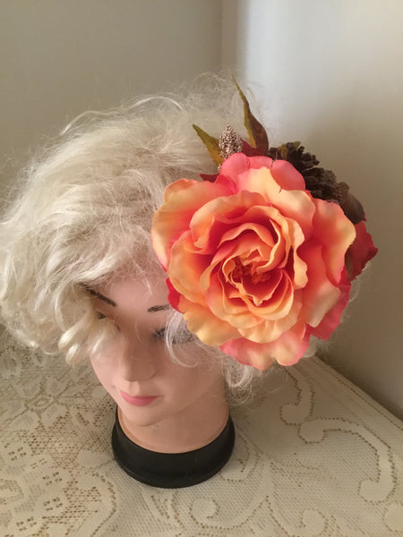 MAIZE ... large autumn inspired hair flower cluster
