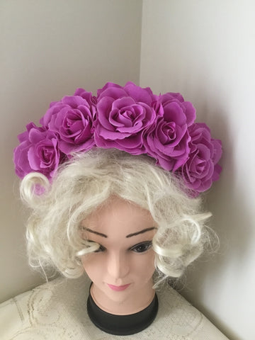 FRIDA .. Fushia rose flower crown