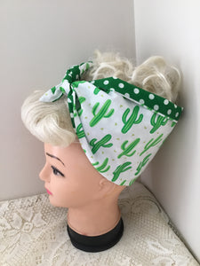 GREEN CACTUS 🌵 - vintage inspired do-rags