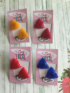 SUSAN.. vintage inspired triangle stud earrings ... various colours