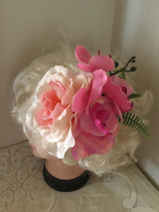 FIONA - large flower cluster hairflower - Pink