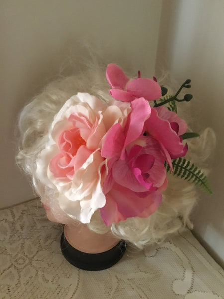 FIONA... large flower cluster hairflower ... pink