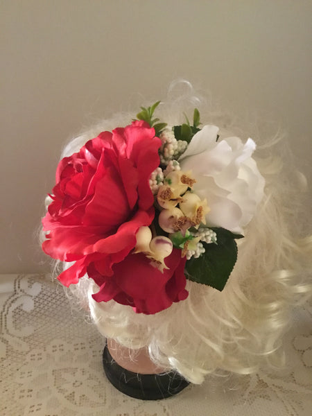 WENDY... large vintage inspired cluster hairflower