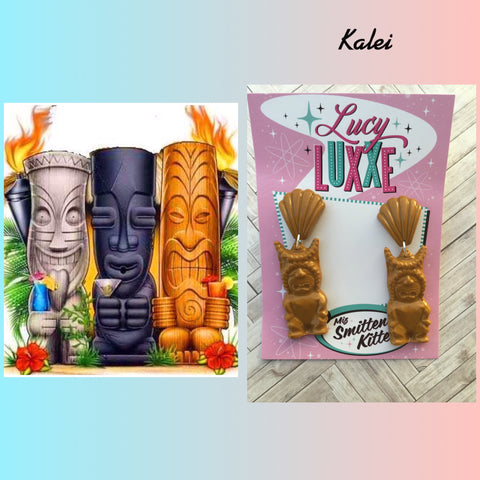 KALEI ... big tiki style earrings