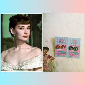 AUDREY.. confetti lucite dome earrings .. various colours