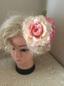 MANDY - large vintage inspired cluster hair flower