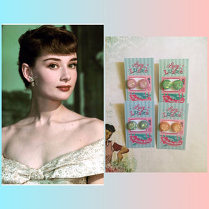 AUDREY... confetti lucite dome earrings .. various colours