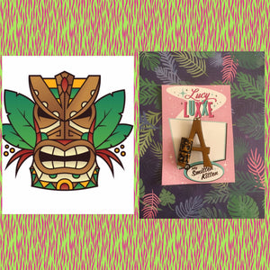 A - TIKI initial brooch exclusive design