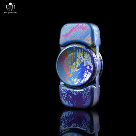 SAGE - ANODIZED - TATTERED RAINBOW - TITANIUM