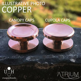 COPPER CUPOLA OR CANOPY CAPS - 22 MM FOR R188