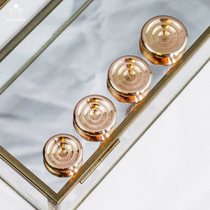 COLLIDER BUTTONS - BRONZE - LOW PROFILE