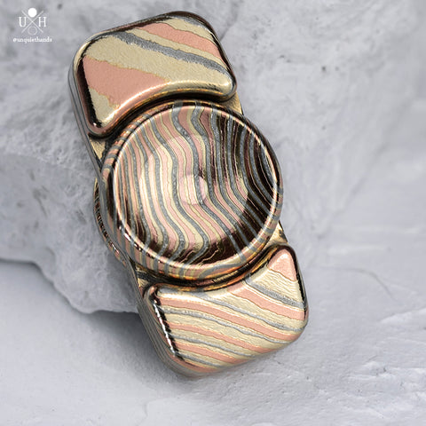 SAGE - 3 ALLOY MOKUME - ETCHED & POLISHED