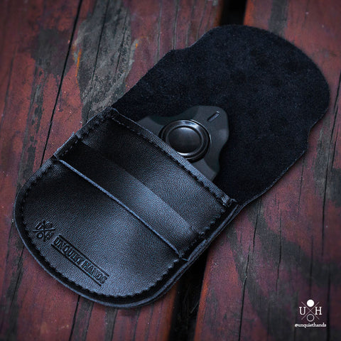 UQH LEATHER POUCH - BLACK - EDC & STORAGE