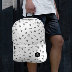 Unquiet Spins - UQH Backpack - White