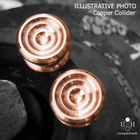 COPPER COLLIDER BUTTONS - 22 MM - RETENTION AND PRESSFIT