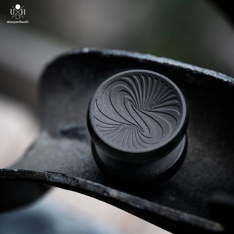 22 MM - SS VERTIGO BUTTONS - MATTE BLACK - HIGH PROFILE