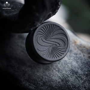 22 MM - SS VERTIGO BUTTONS - BLACK - LOW PROFILE