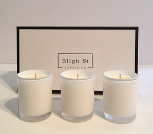 Trio of Oxford Votive Candles - Fresh