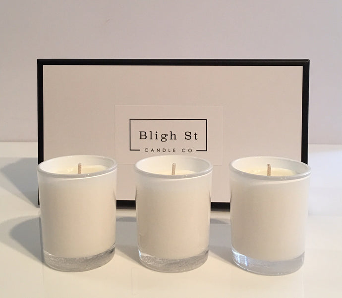 Trio of Oxford Votive Candles - Summer