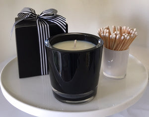 Pink Champagne & Exotic Fruits Candle Velino Black