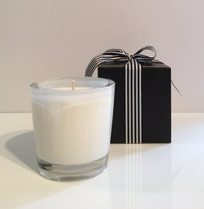 Coconut Lime Candle Velino White