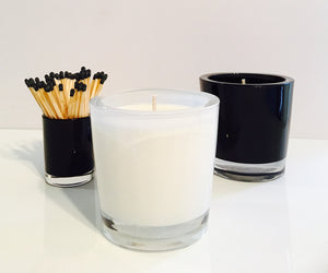 Lotus Flower Candle Velino White
