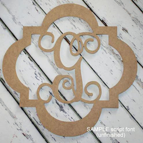 Wood Initial Hanging Decor - Unfinished