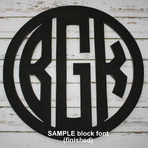 Wood Hanging Monogram