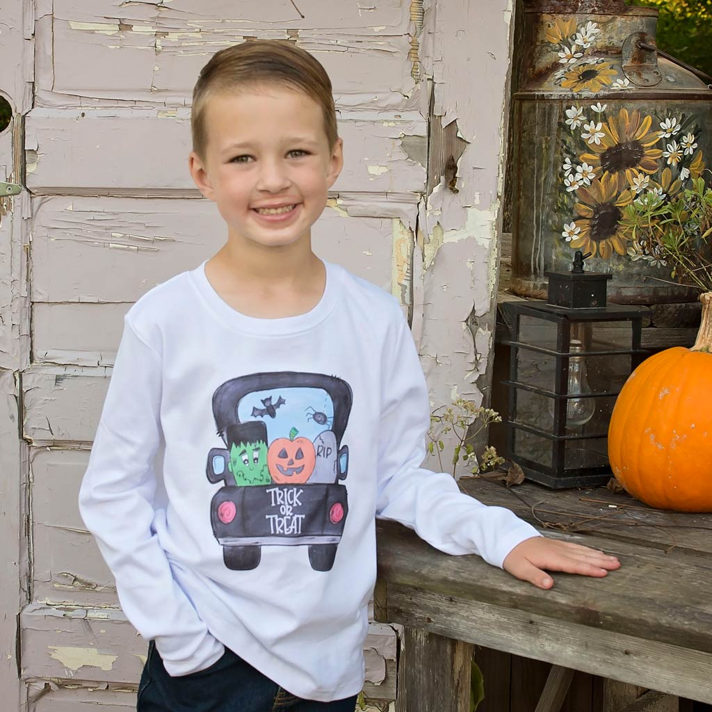 Design Your Own Children's Personalized Long Sleeve Tee